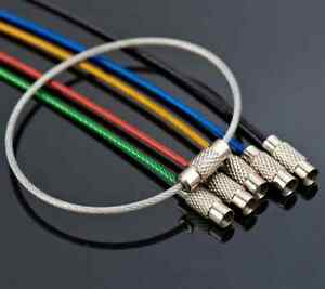 5pcs Strong Wire Keyring Stainless Steel Cable Keychain