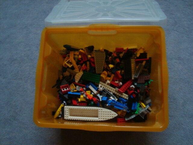 Lego Konvolut - ca.5  kg gemischte Lego Steine + Aufbewahrungskiste