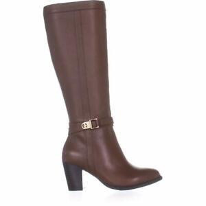 Giani Bernini Womens Rozario Leather Almond Toe Knee High, Cognac, Size 8.0