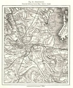 Details about Shrewsbury from the Ordnance Survey Map. Shropshire. Sketch  map 1885 old