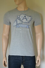 NUOVO Abercrombie & Fitch Kempshall MOUNTAIN GREY VINTAGE GRAPHIC T-SHIRT TEE L
