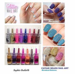 Fine Glitter Crystals Nail Art Beads Dust Decor Manicure Bottles
