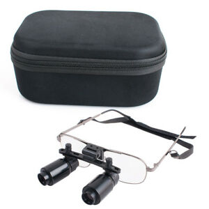 5-0X-Dental-Dentist-Surgical-Medical-Binocular-Magnifier-Loupes-With-Carry-Case