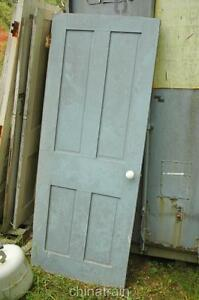 Image is loading Antique-Vintage-1850s-Solid-Wood-4-Panel-House- & Antique Vintage 1850s Solid Wood 4 Panel House Door 77 x 30.25\u0026#034; Pezcame.Com