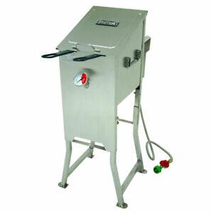 Bayou Classic 700-701 4-Gallon, Stainless Steel Deep Fryer