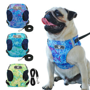 Luxurious-Summer-Reflective-Dog-Harness-amp-Leash-Lead-Set-Comfortable-Breathable