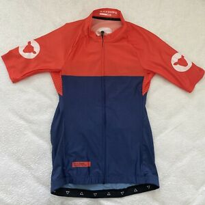 Black Sheep Limited Women's Orange Navy Coloured Cycling Jersey - Size XS