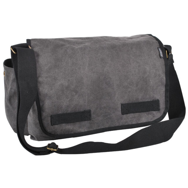 e858a39cff30 Everest Large Cotton Canvas Messenger Bag 4 Colors Gray Charcoal for ...