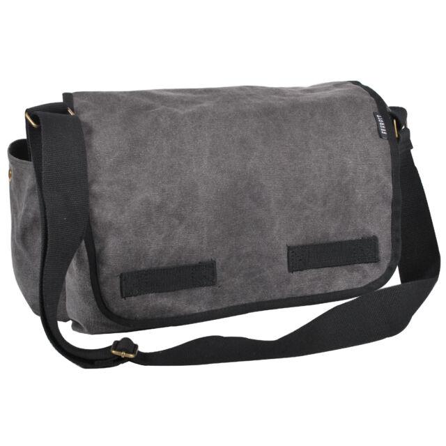 Everest Large Cotton Canvas Messenger Bag 4 Colors Gray Charcoal for ... 6b592d4a1ec86