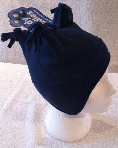 Baby Boys Childrens Tricorn Fleece Lined Ski Hat Blue Winter Warm Beanie 0-2Y