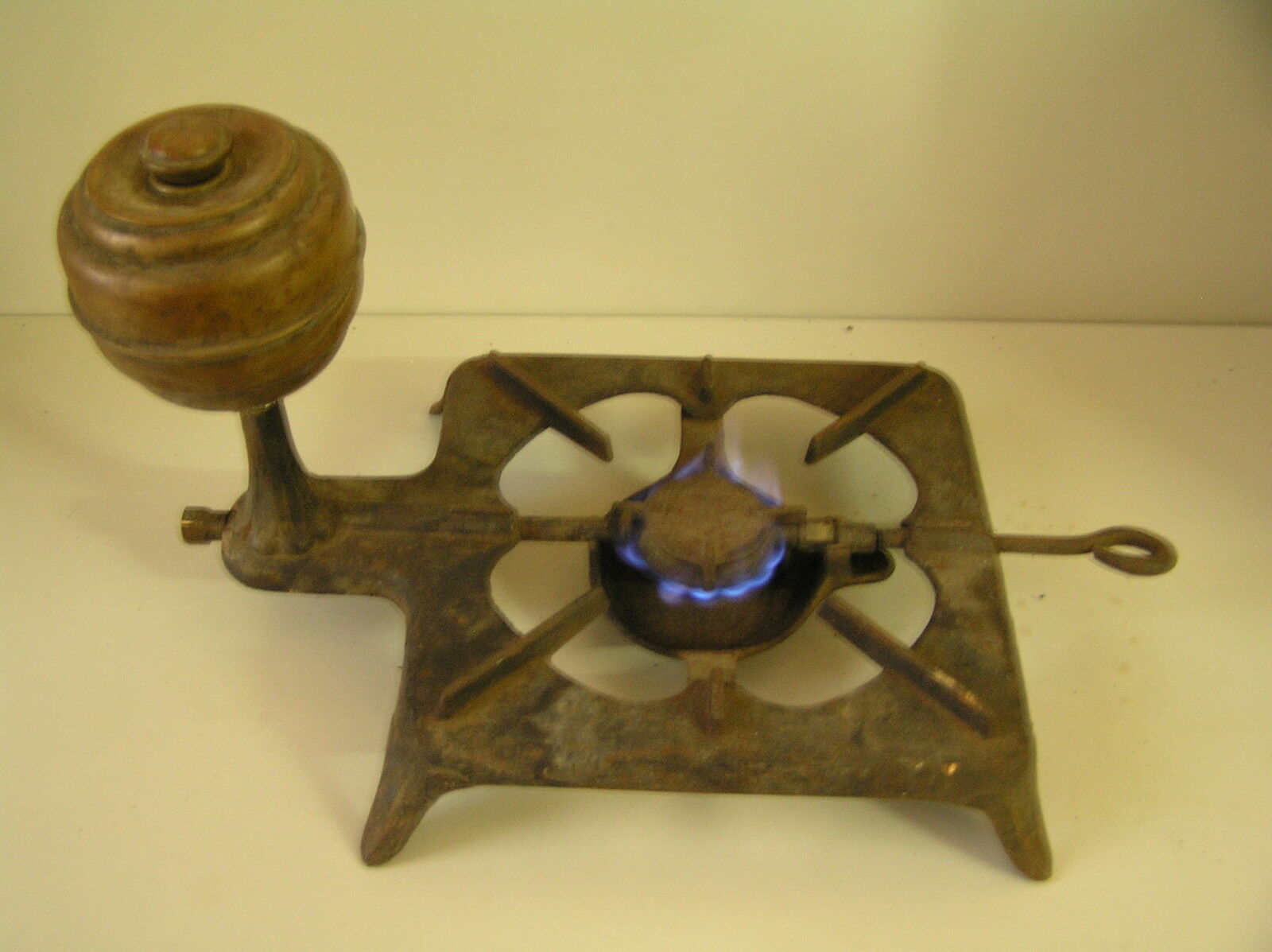 Large Old Alcohol Stove, Solid