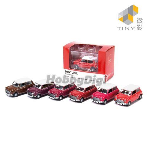 Mini Cooper X Pantone Set Tiny City Diecast Model Car Red