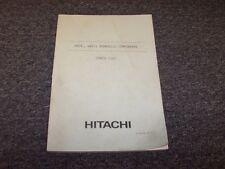 Hitachi UH14-2 UH171 Excavator Hydraulic Components Parts Catalog Manual Guide