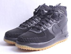 4297fb6c9e1a Nike Lunar Force 1 Duckboot   805899 003 Black   Gum Men SZ 7.5 - 13 ...