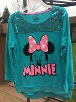Girls Sequin Design Lightweight Disney Minnie Sweatshirt Size: Xl (14-16)