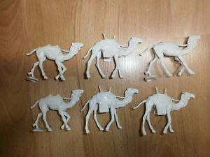 Convolute-Merten-6-Plastic-Figures-Camels-for-Caravans-Bedouin-to-4cm