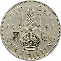 GEORGE VI SCOTTISH SILVER SHILLING 1937 TO 1951 CHOICE OF YEAR / DATE