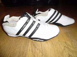 Mens-Adidas-Goodyear-White-amp-Navy-Blue-Trainers-Size-8-UK-Good-Condition