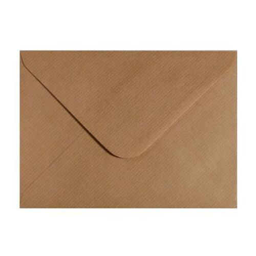 C7 Marron Côtelé Kraft Pour A7 cartes de vœux invitations RSVP enveloppes 83x113mm