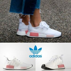 sports shoes afdc5 84800 Image is loading Adidas-Original-NMD-R1-Running-Sneakers-White-White-