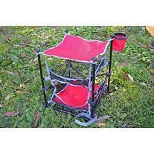 ozark trail folding end table storage camping picnic