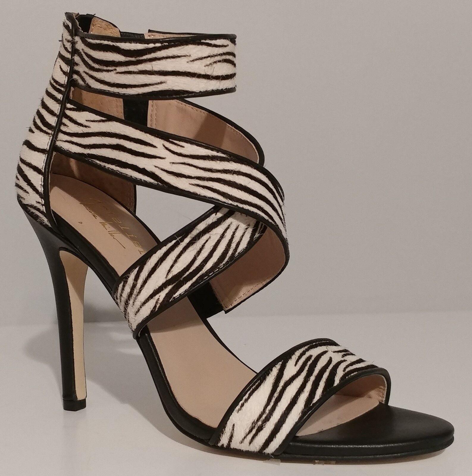 Nuevo    Nicole Miller Sandalias De Cuero Negro Negro Negro Crawford Tacones De 4.5  tamaño 7M Estados Unidos 37M EUR  n ° 1 en línea