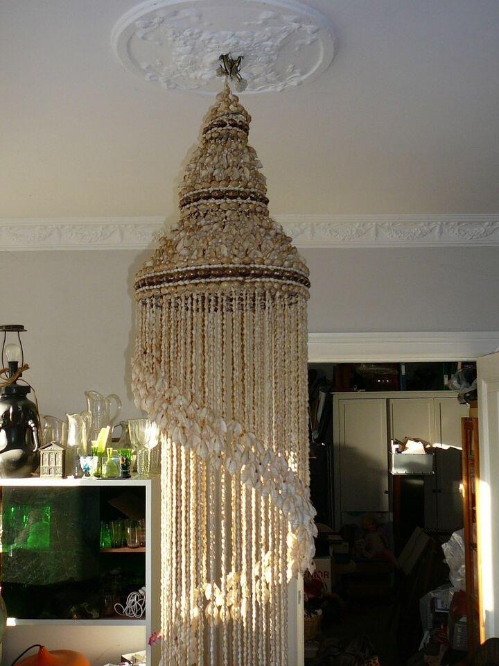 Anden arkitekt, UNIK LOFTLAMPE AF MUSLINGER, loftslampe