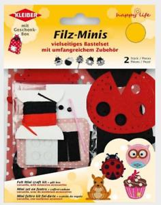 """Filz-Minis Set 2 Stück mit allem Zubehör zum Selbstbasteln /""""Marienkäfer/""""  93313"""