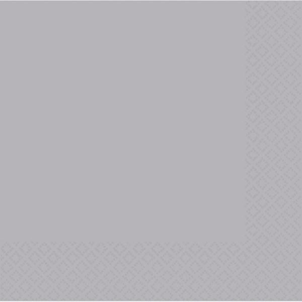 50 Pacco Argento Tovaglioli da Pranzo 33cm- 2ply Festa di Compleanno Matrimonio