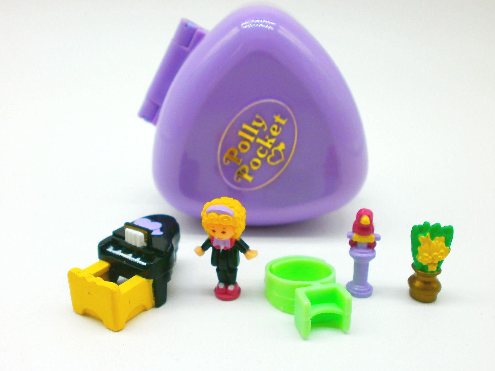 Polly Pocket Mini   Perfect piano recital ringcase 1991   100% complete