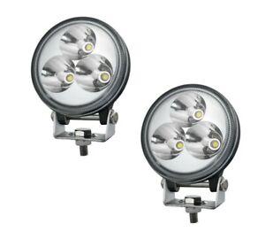2x-3-2-034-9w-Rund-Led-Arbeitslampe-Lampe-Punktstrahl-Wasserfest-fuer-Lkw-Auto
