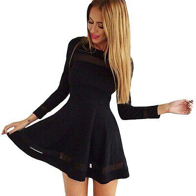 Sexy Black Women Casual Sleeveless Party Evening Cocktail Short Mini Dress