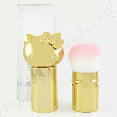 Sanrio Hello Kitty Retractable Kabuki Powder Makeup Brush Gold Limited Edition