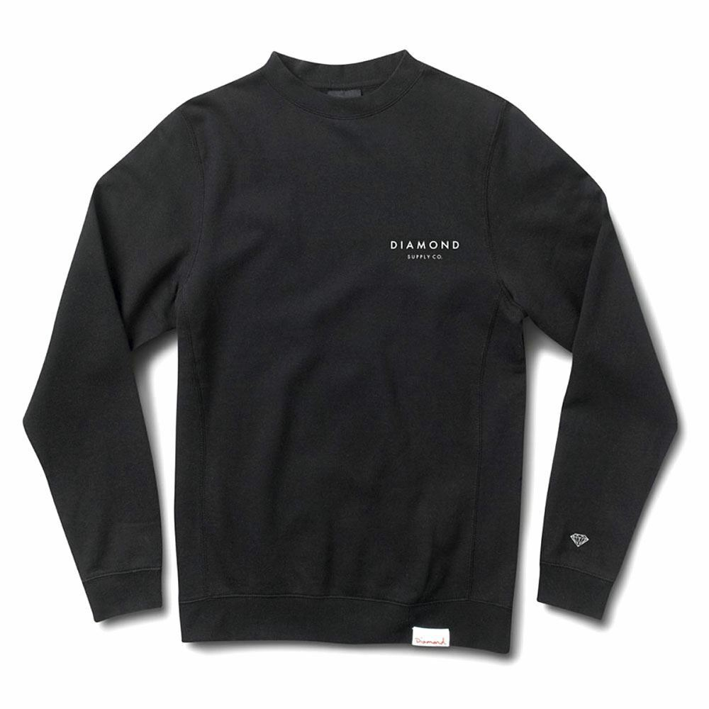 Diamond Supply Co Stone Cut Crewneck Schwarz