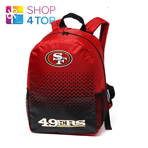 SAN FRANCISCO 49ERS NFL OFFICIAL AMERICAN FOOTBALL CLUB BACKPACK TRAVEL BAG TEAM
