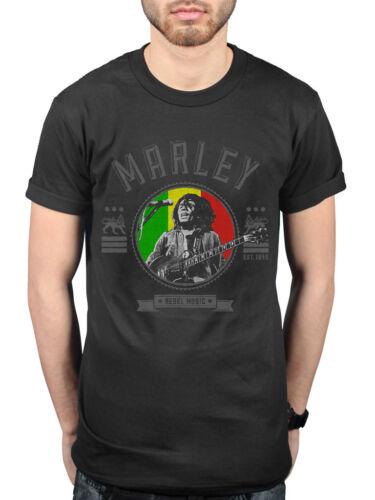Official Bob Marley Rebel Seal T-shirt Exodus Catch A Fire Ganja Gun Merch