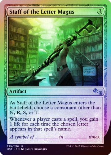 Staff of the Letter Magus FOIL Unstable MINT Artifact Uncommon MTG CARD ABUGames