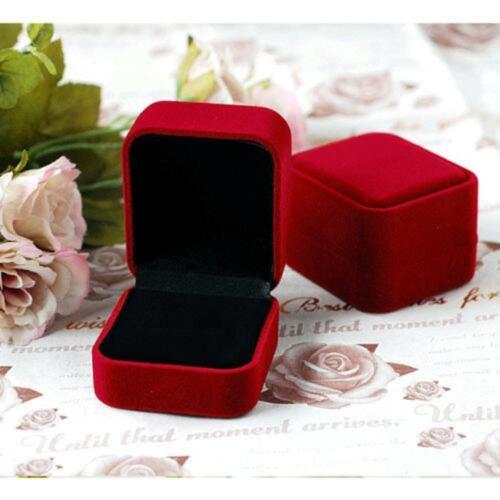 1PC Velvet Engagement Wedding Ring Box Earring Pendant Jewelry Organizer Case