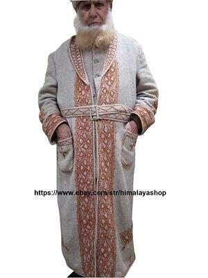 chitrali over coat chugha patu men/'s wool chitrali chugha