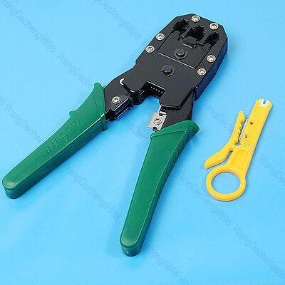 RJ45 RJ11 RJ12 CAT5 Network Lan Cable Wire Stripper Crimper Crimp PC Tool