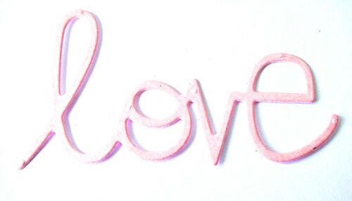 "PS Valentine//Anniversary//Love 8 /""Love/"" Die Cuts Any Colour"