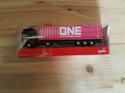 """HERPA Modell 1:160//Spur N MB Actros Gigaspace Container-Sattelzug /""""ONE/"""" #066792"""