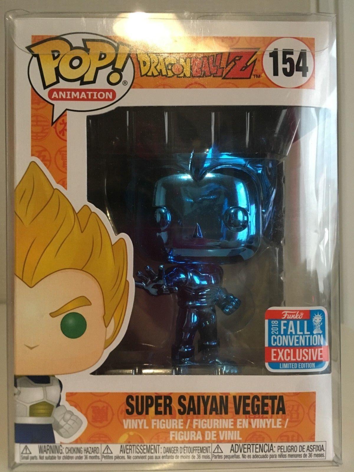 Funko Pop Dragon Ball Z - Super Saiyan Vegeta - blu Chrome  NYCC 2018 - 154
