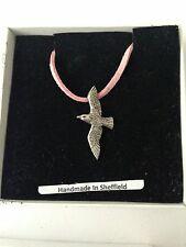 Seagull PP-B17 Pewter Pendant on a PINK CORD Necklace