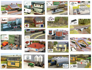 OO-HO-Building-Plastic-model-kits-Fordhampton-range-Gaugemaster-18-products