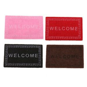 Doll-House-Miniature-carpet-WELCOME-Mat-Dollhouse-Accessories-Home-amp-Living-F4F2
