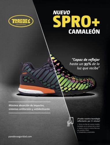 Camaleon Seguridad Spro Paredes Negro Sp5038 Zapato Reflectante 8FOqRw4zR