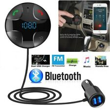 Wireless Handsfree Bluetooth FM Transmitter MP3 Player 2 USB Charger Car Adapter