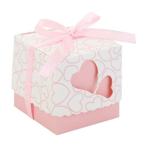 10pc Wedding Sweet Cake Candy Boxes Gift Birthday Party Favour Baby Shower Favor