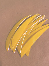 Trueflight 5 inch Feathers Right Wing Parabolic Cut 100 pack Traditional Barred